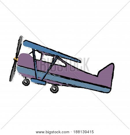 airplane icon over white background. vector illlustration