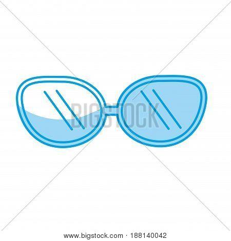 silhouette cute sunglasses fashion style design, vector illustration