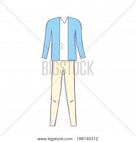 cute man elegant wear design, vector illustration