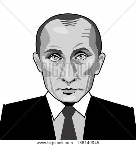 may 25. 2017 Vector illustration of Russian President Vladimir Putin.