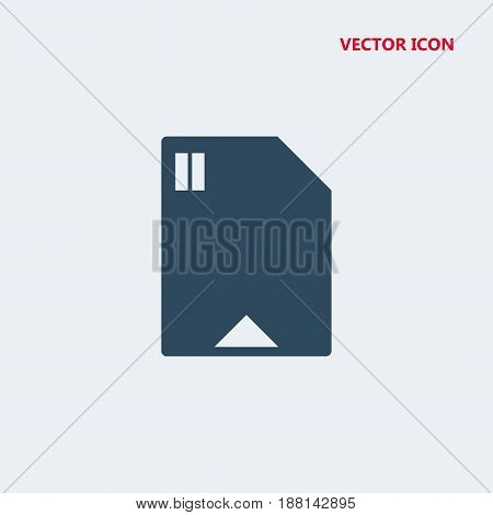 sd card vector icon isolated on white background