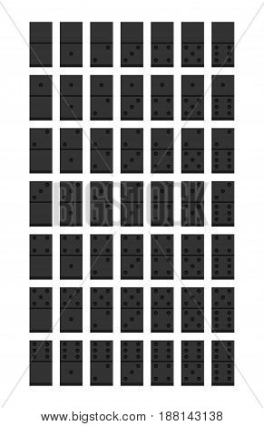 Domino. Flat style design - vector set