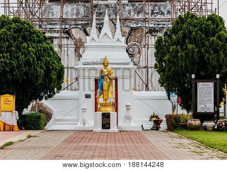 Buddha statue at Wat PraThat ThaUthen Nakhonphanom Thailand.