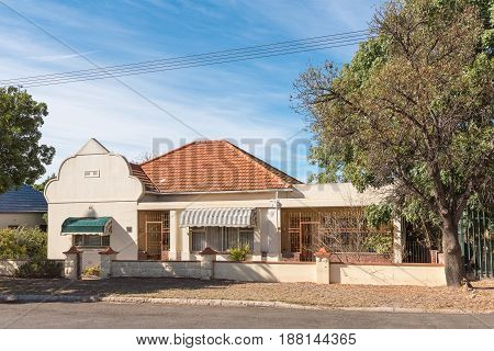ASHTON SOUTH AFRICA - MARCH 26 2017: An historic old house in Ashton a town on the scenic Route 62 in the Western Cape Province