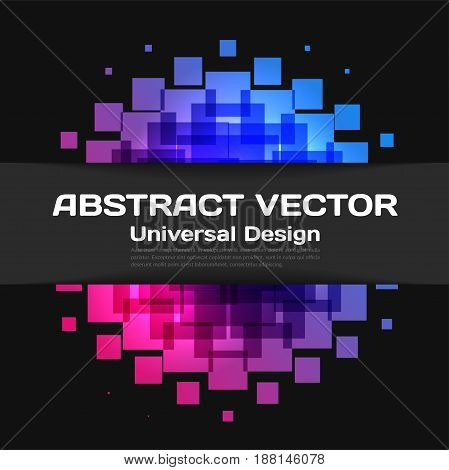 Abstract vector design elements for graphic layout. Modern business background template with rectangles, squares for tech, building, urban, construction.