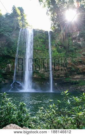 Misol Ha Waterfall On Chiapas