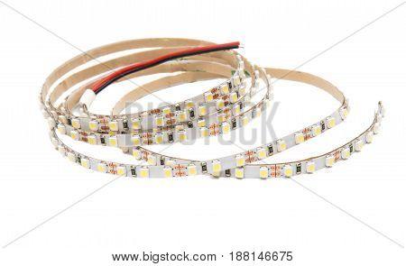 technology LED tape isolated on white background
