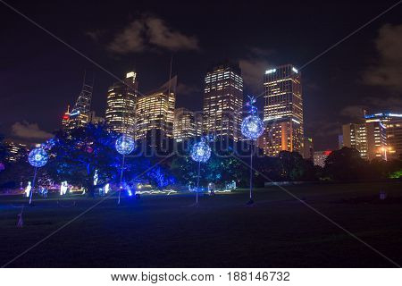 26Th Of May 2017 - Vivid Live Sydney, Opening Night Of Large Free Annual Outdoor Event Of Light Musi