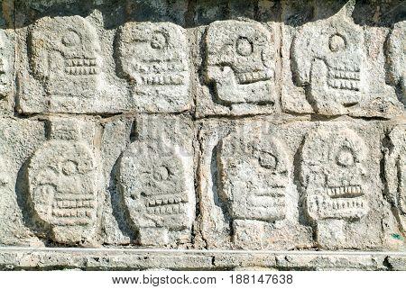 Tzompantli - Wall Of Skulls, Chichen Itza