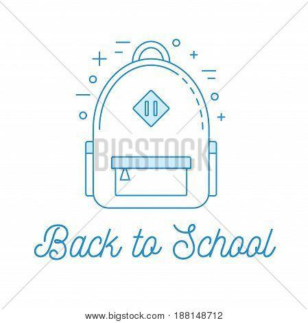School Backpack Illustration