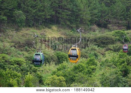 Dalat Cable Car way at Robin Hill Vietnam