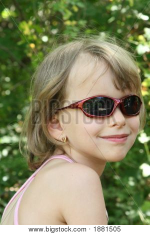 Young Girl With Sunglass