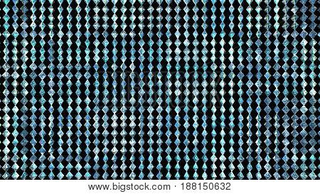 3D illustration background of rows of diamond structures.