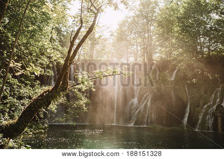 Beautiful Plitvice Lakes National Park in Croatia