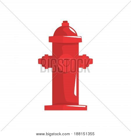 Red fire hydrant vector Illustration isolated on a white background