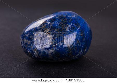 Lapis Lazuli Geode On Black Background