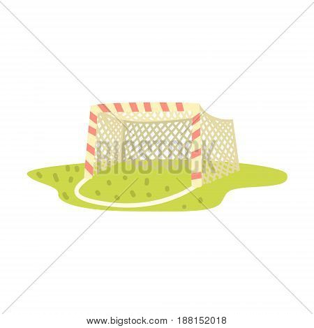 Soccer goal cartoon vector Illustration isolated on a white background