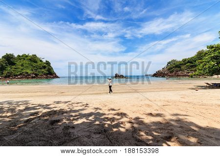 Beach and tropical sea of thailand the andaman coast