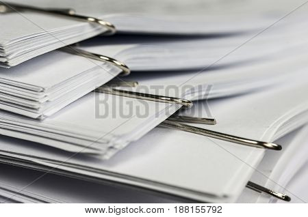 Paper Clips On Paperwork