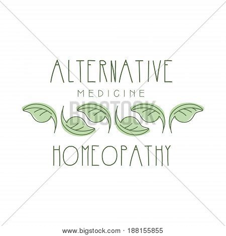 Alternative medicine homeopathi logo symbol vector Illustration for business emblem, badge for yoga studio, alternative medicine, holistic medicine center