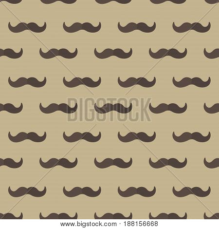Mustache seamless patterns. Father's Day holiday concept repeating texture, endless background. Vector illustration