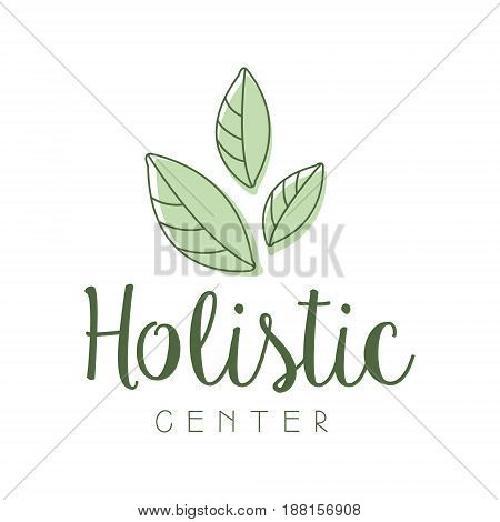 Holistic center logo symbol vector Illustration for business emblem, alternative medicine, homeopathy, holistic medicine center