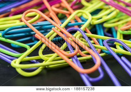 Multicolored Office Paperclips