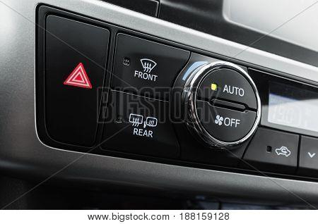 Climate Control Panel, Modern Luxury Car