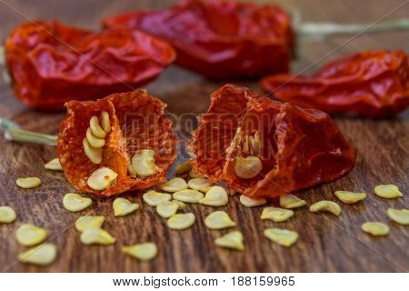 Cut Dried Red Peppers