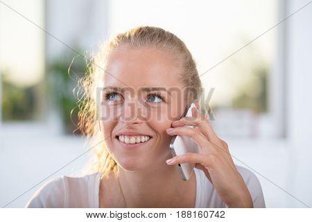 Pretty Girl Talking On Cellphone
