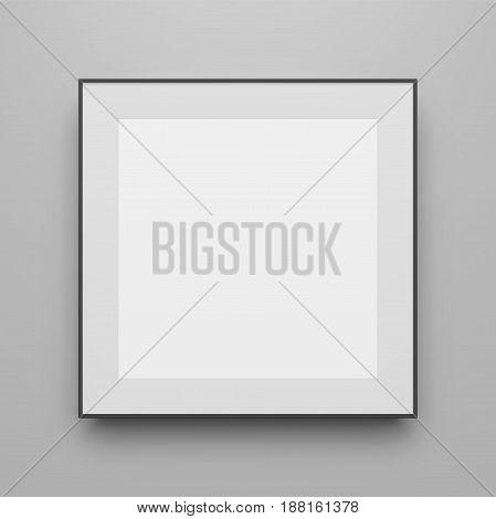 Square black vector Frame Mockup for Portfolio or Presentation