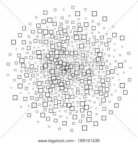 Square Shapes abstract black and white Pattern for Your Design