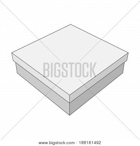 Vector white Box with place for Your Label or other Design