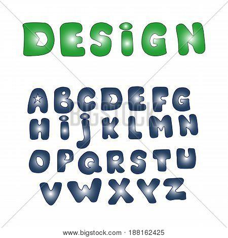Funny Comics Font. Vector Cartoon Alphabet. Design elements