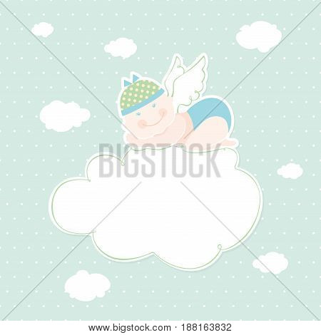Greeting card with place for your text. Vector illustration.