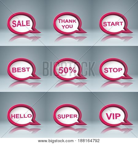 Speech bubl icon. Dialog box info. Abstract infographic