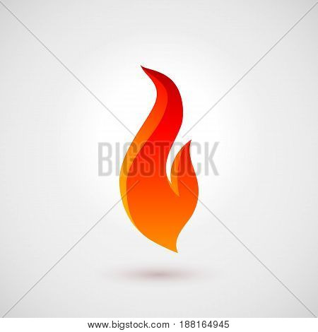 Fire Icon in Trendy Flat Style. Illustration for Creative Design