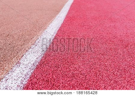 Running Track With Marking