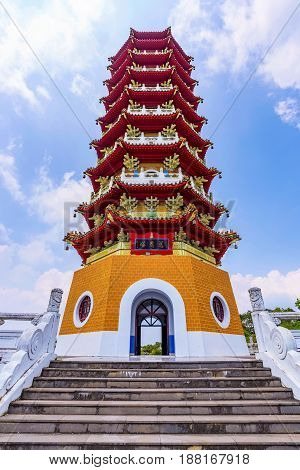 Ci'en Pagoda traditional Chinese architecture in Taiwan