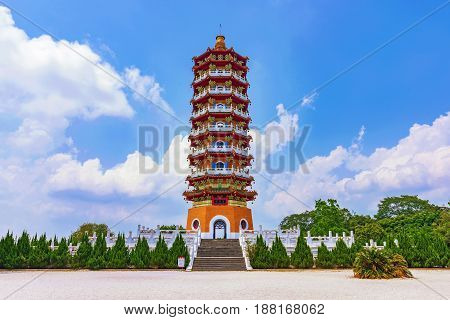 View of Ci'en pagoda with nature and blue sky