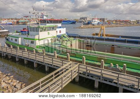 NETHERLANDS - URK - MEDIA APRIL 2017: Ships in the port of Urk in Friesland Netherlands.