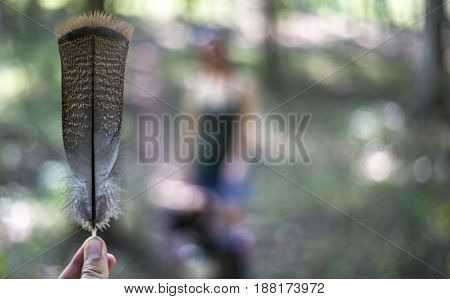A feather from a big bird found in Franklin New Jersey.