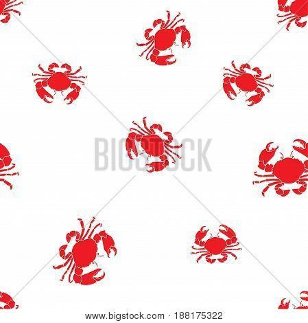 seamless marine pattern crabs. Vector marine background.