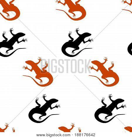 Vector flat illustration on white background. Abstract illustration. Reptile lizard. Animal. Wildlife in dezert.