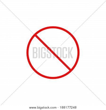 Do not entry line icon, prohibition sign, forbidden not allowed, vector graphics, a linear pattern red on a white background, eps 10.