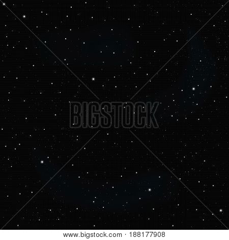 Dark sky with stars vector texture or background