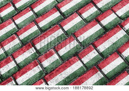 Hungary Flag Urban Grunge Pattern