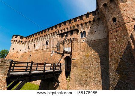 Castelllo di Gradara the Gradara castle in Gradara Italy