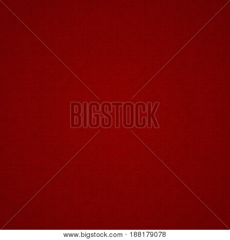Red pattern on a dark red background. Connected diamond and circle. Abstract background for projects. Vector illustration.