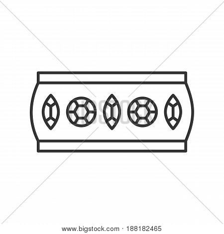 Women's bracelet linear icon. Thin line illustration. Contour symbol. Vector isolated outline drawing